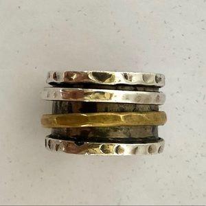 Sterling silver ring.
